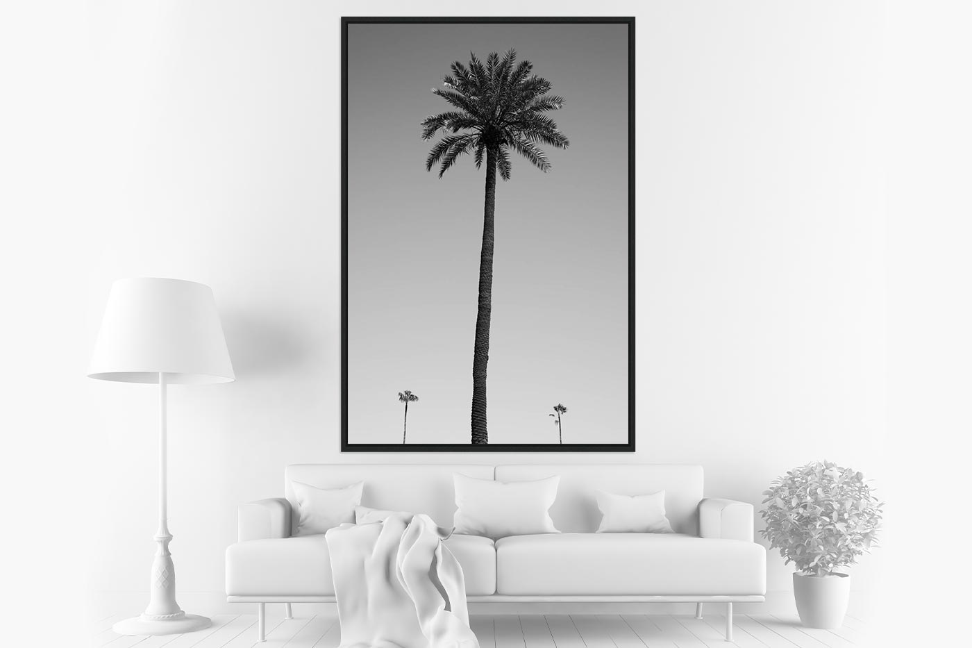 Caisse americaine 80x120 Three palm trees