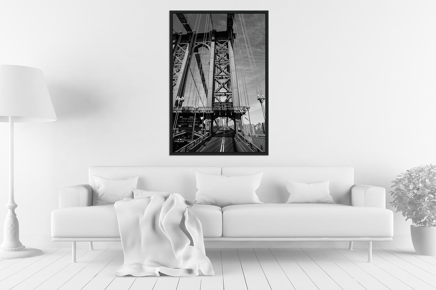 Caisse americaine 60x90 Brooklyn Bridge