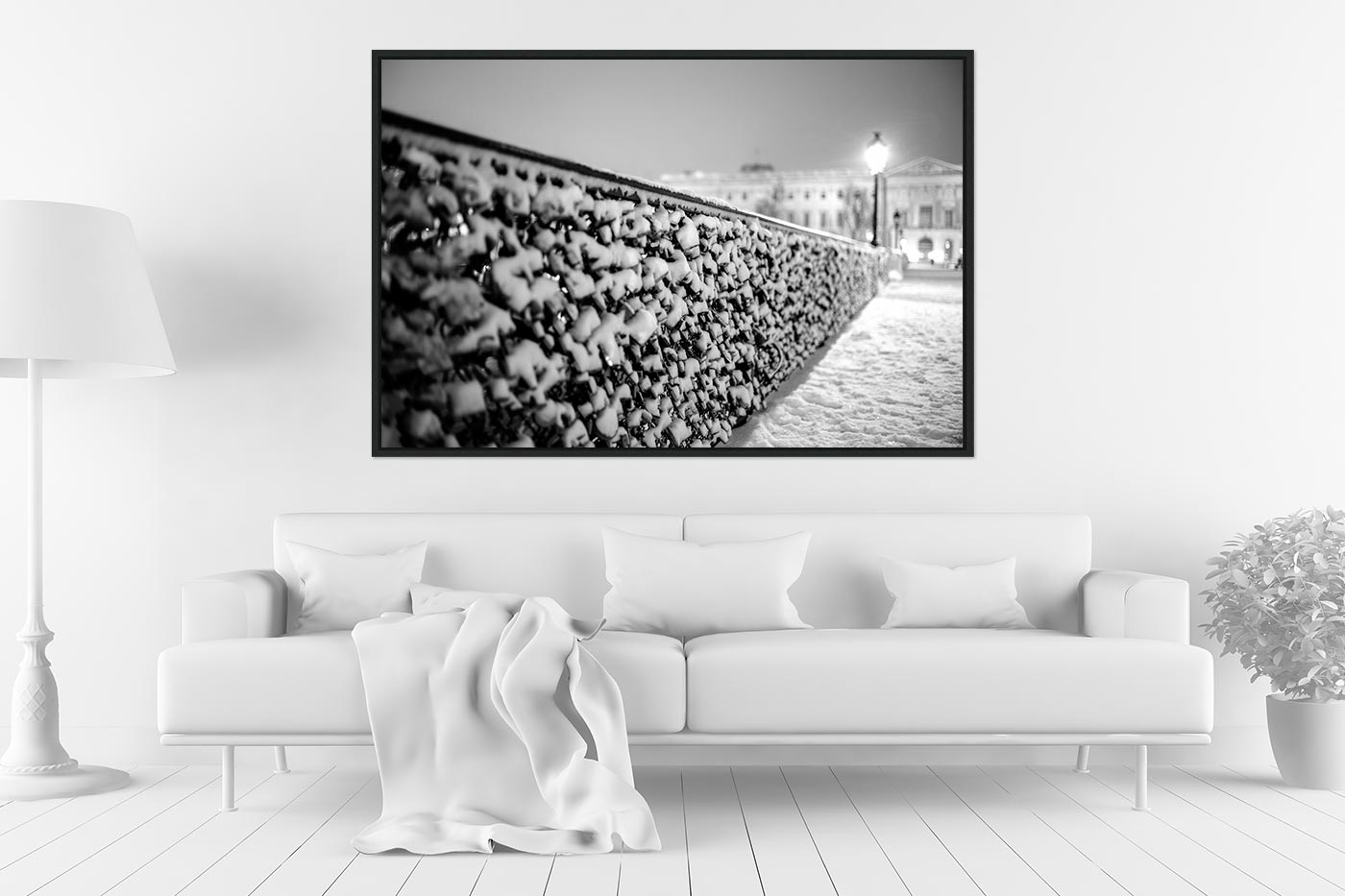 Caisse americaine 80x120 Snowy Lovers' Bridge