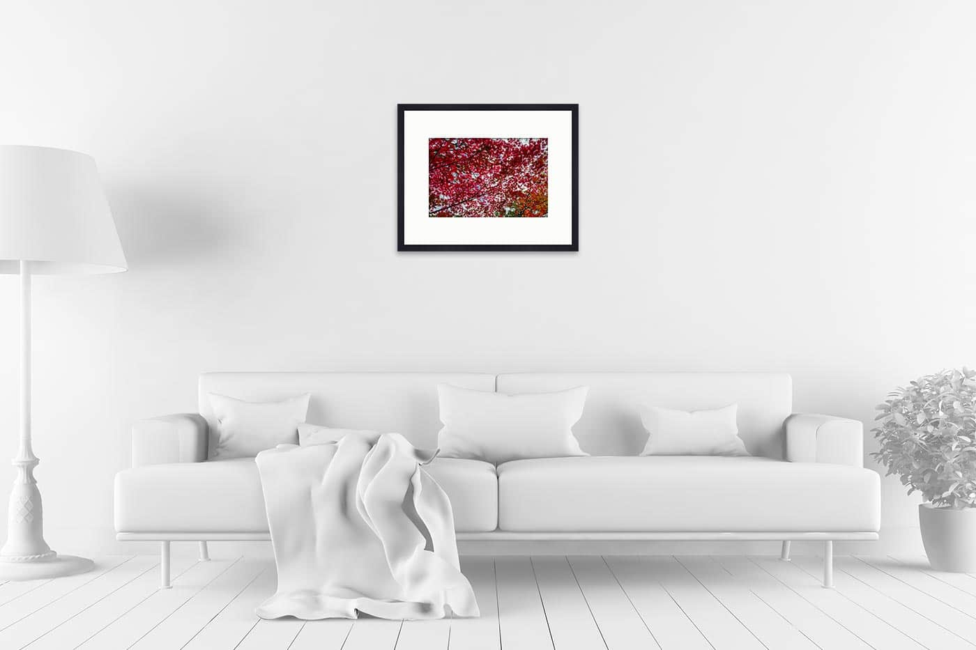 Cadre expo 40x50 Small red tree leaves