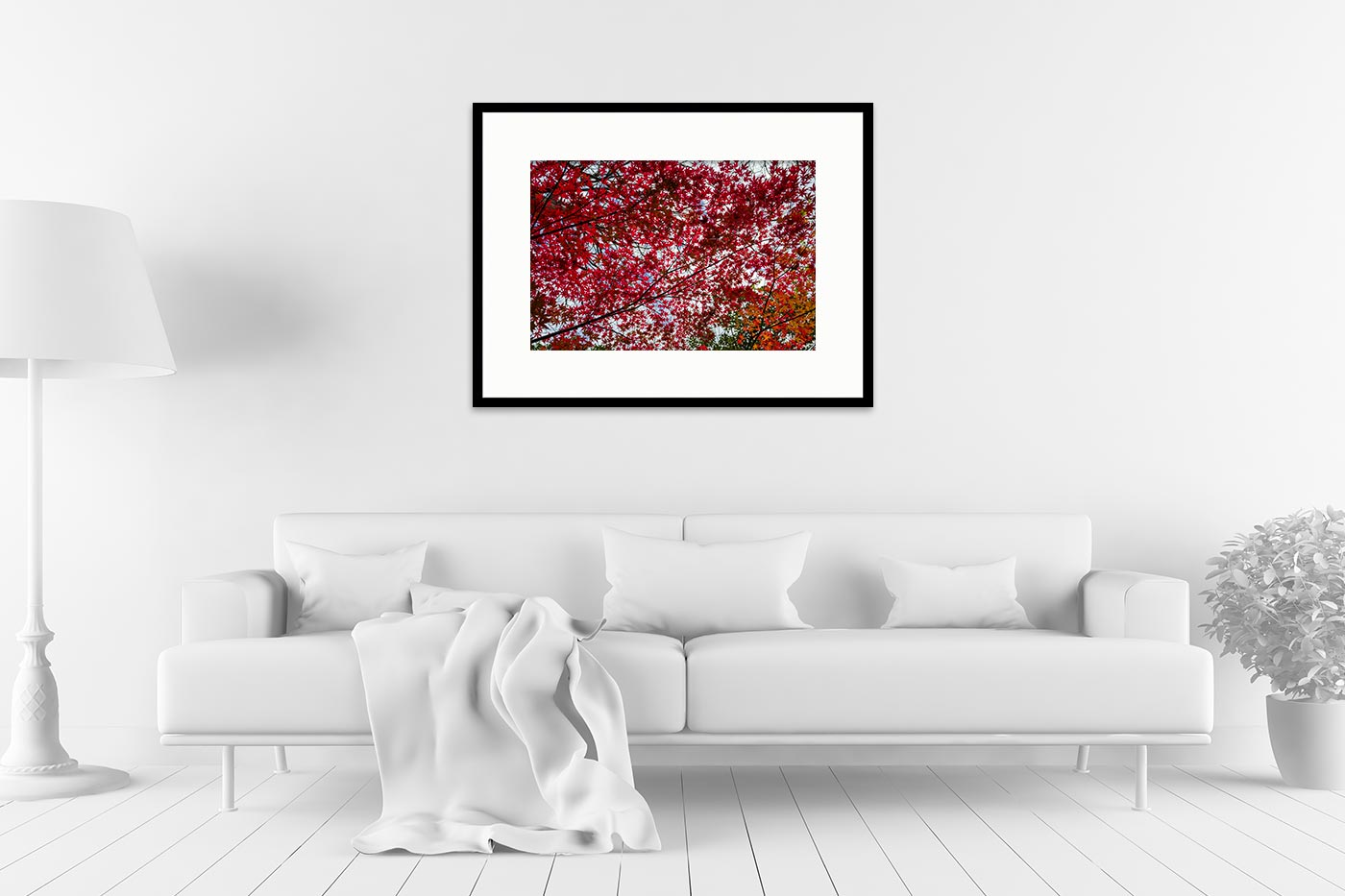 Cadre expo 60x80 Small red tree leaves
